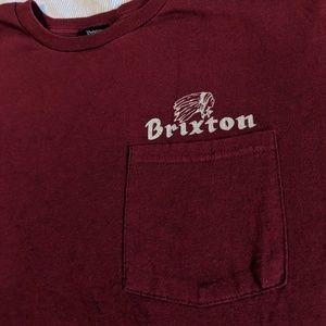 Maroon Brixton tee